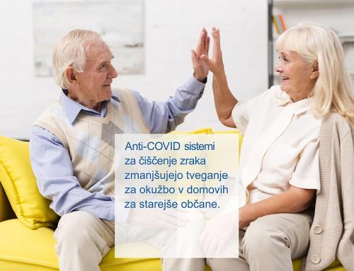 Anti-COVID filtrirni sistemi za čiščenje zraka za domove starejših
